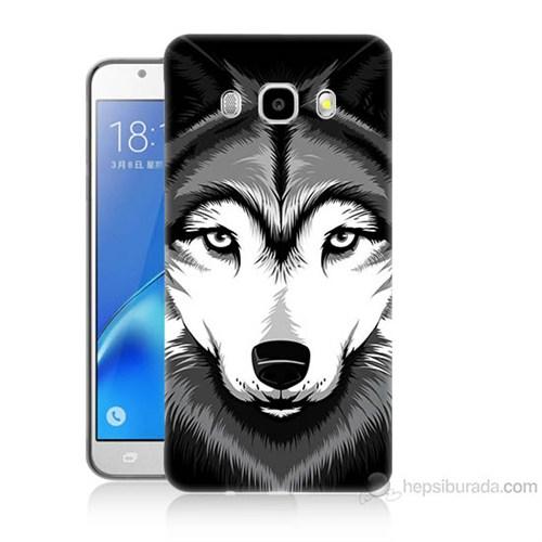 Teknomeg Samsung Galaxy J5 2016 Kapak Kılıf Kurt Baskılı Silikon