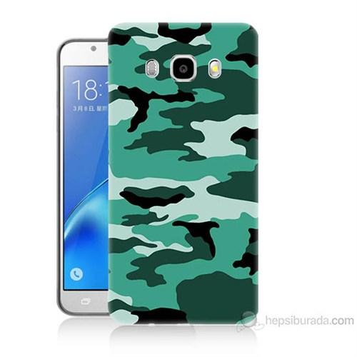Teknomeg Samsung Galaxy J5 2016 Kapak Kılıf Kamufulaj Baskılı Silikon