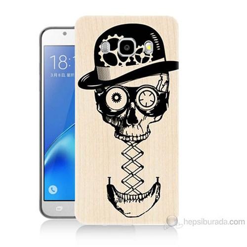 Teknomeg Samsung Galaxy J5 2016 Kapak Kılıf Mekanik Kurukafa Baskılı Silikon