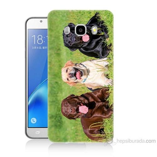 Teknomeg Samsung Galaxy J5 2016 Kapak Kılıf Köpekler Baskılı Silikon