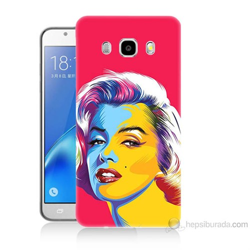Teknomeg Samsung Galaxy J7 2016 Kapak Kılıf Pop-Art Resim Baskılı Silikon