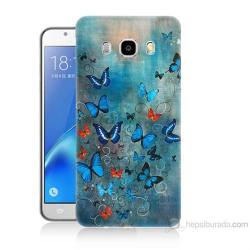 Teknomeg Samsung Galaxy J7 2016 Kapak Kılıf Kelebekler Baskılı Silikon