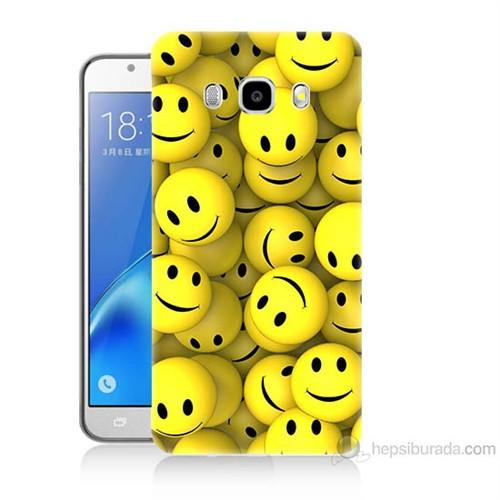 Teknomeg Samsung Galaxy J7 2016 Kapak Kılıf Smile Baskılı Silikon