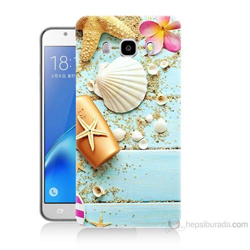 Teknomeg Samsung Galaxy J7 2016 Kapak Kılıf Deniz Kabuğu Baskılı Silikon