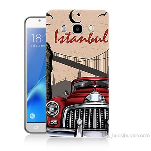 Teknomeg Samsung Galaxy J7 2016 Kapak Kılıf İstanbul Baskılı Silikon