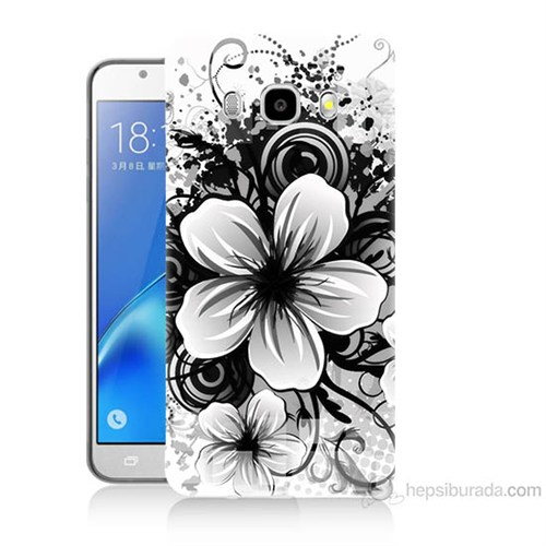 Teknomeg Samsung Galaxy J7 2016 Kapak Kılıf Manolya Baskılı Silikon