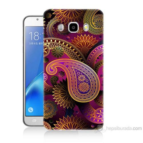 Teknomeg Samsung Galaxy J7 2016 Kapak Kılıf İşlemeli Damla Baskılı Silikon