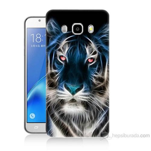 Teknomeg Samsung Galaxy J7 2016 Kapak Kılıf Dumanlı Aslan Baskılı Silikon