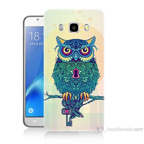 Teknomeg Samsung Galaxy J7 2016 Kapak Kılıf Anahtar Baykuş Baskılı Silikon