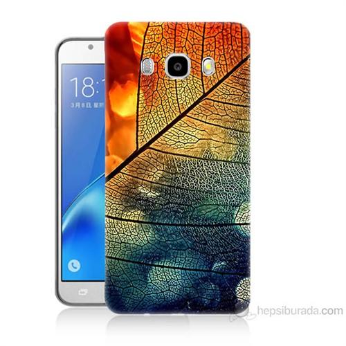 Teknomeg Samsung Galaxy J7 2016 Kapak Kılıf Yaprak Baskılı Silikon