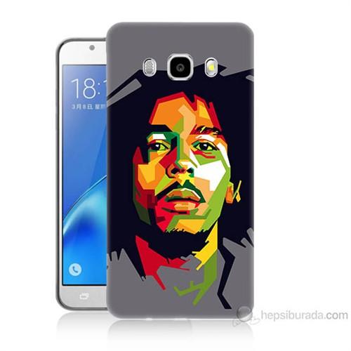 Teknomeg Samsung Galaxy J7 2016 Kapak Kılıf Bob Marley Baskılı Silikon