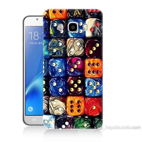 Teknomeg Samsung Galaxy J7 2016 Kapak Kılıf Zarlar Baskılı Silikon