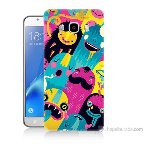 Teknomeg Samsung Galaxy J7 2016 Kapak Kılıf Sevimli Karakterler Baskılı Silikon