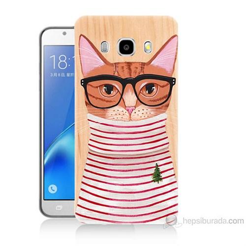 Teknomeg Samsung Galaxy J7 2016 Kapak Kılıf Kedi Baskılı Silikon