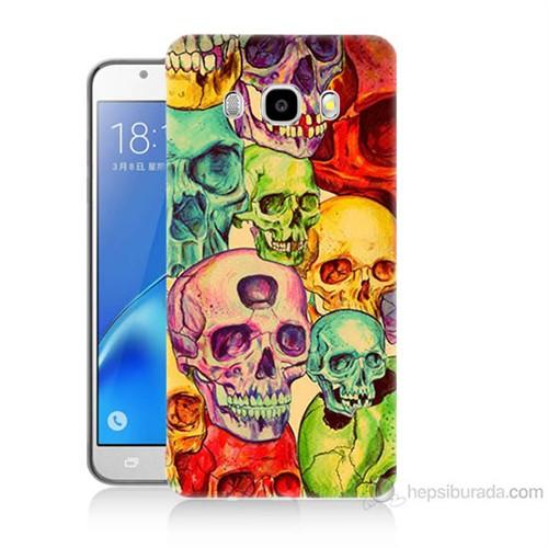 Teknomeg Samsung Galaxy J7 2016 Kapak Kılıf Kafatası Krallığı Baskılı Silikon