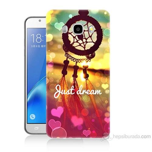 Teknomeg Samsung Galaxy J7 2016 Kapak Kılıf Just Dream Baskılı Silikon