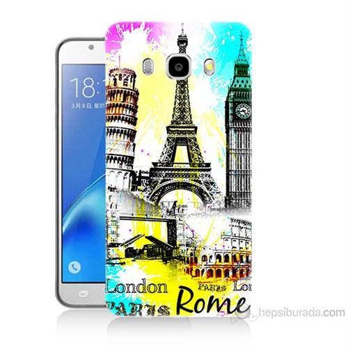 Teknomeg Samsung Galaxy J7 2016 Kapak Kılıf Avrupa Baskılı Silikon