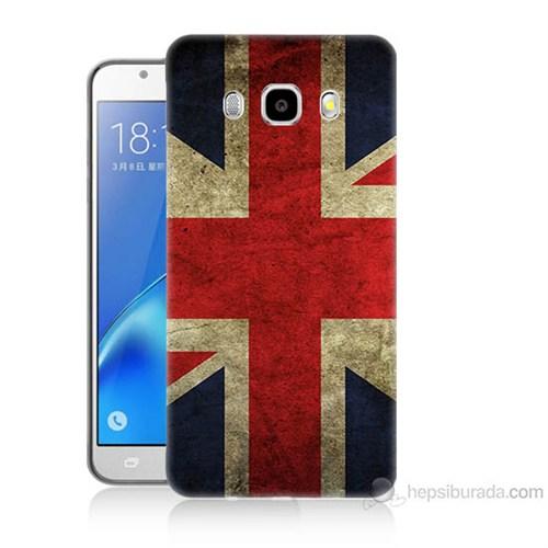 Teknomeg Samsung Galaxy J7 2016 Kapak Kılıf İngiltere Bayrağı Baskılı Silikon