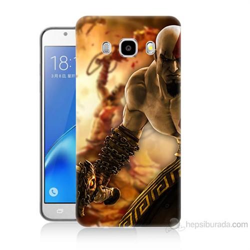 Teknomeg Samsung Galaxy J7 2016 Kapak Kılıf God Of War Baskılı Silikon