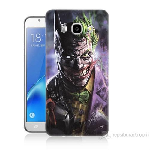 Teknomeg Samsung Galaxy J7 2016 Kapak Kılıf Joker Vs Batman Baskılı Silikon