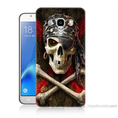 Teknomeg Samsung Galaxy J7 2016 Kapak Kılıf Korsan Baskılı Silikon