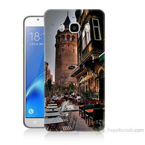 Teknomeg Samsung Galaxy J7 2016 Kapak Kılıf Galata Kulesi Baskılı Silikon