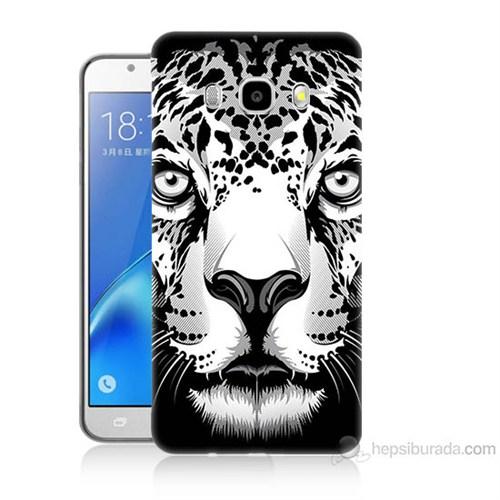 Teknomeg Samsung Galaxy J7 2016 Kapak Kılıf Kaplan Baskılı Silikon