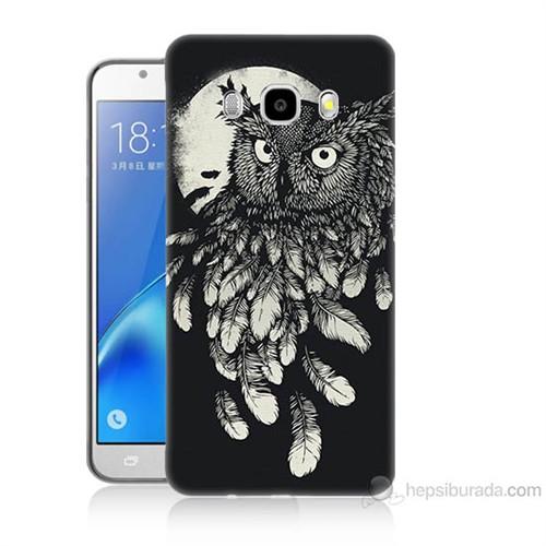 Teknomeg Samsung Galaxy J7 2016 Kapak Kılıf Gece Kuşu Baskılı Silikon