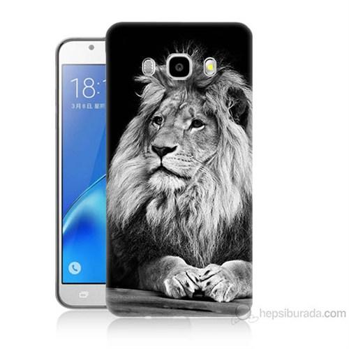 Teknomeg Samsung Galaxy J7 2016 Kapak Kılıf Asil Aslan Baskılı Silikon