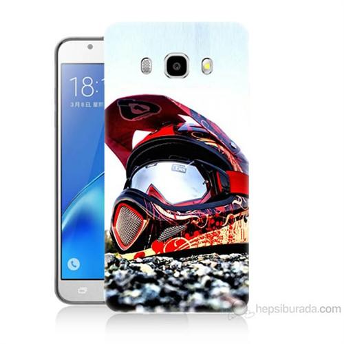 Teknomeg Samsung Galaxy J7 2016 Kapak Kılıf Kask Baskılı Silikon