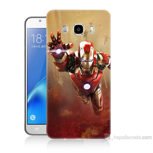 Teknomeg Samsung Galaxy J7 2016 Kapak Kılıf Demir Adam Baskılı Silikon