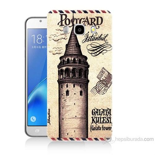 Teknomeg Samsung Galaxy J7 2016 Kapak Kılıf Galata Tower Baskılı Silikon