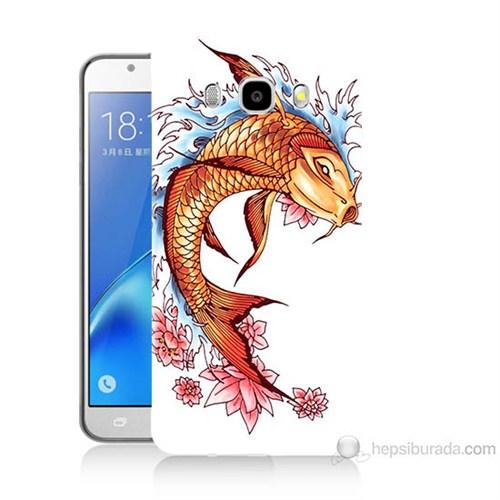 Teknomeg Samsung Galaxy J7 2016 Kapak Kılıf Balık Baskılı Silikon