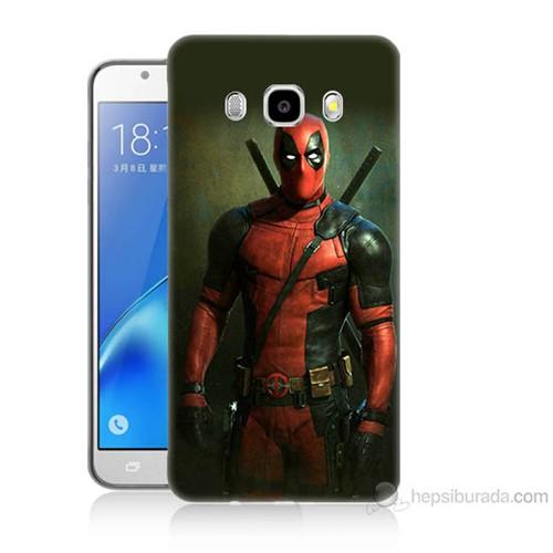 Teknomeg Samsung Galaxy J7 2016 Kapak Kılıf Deadpool Baskılı Silikon
