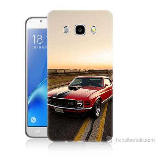 Teknomeg Samsung Galaxy J7 2016 Kapak Kılıf Araba Baskılı Silikon