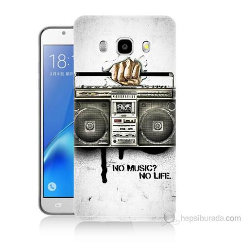 Teknomeg Samsung Galaxy J7 2016 Kapak Kılıf Müzik Hayattır Baskılı Silikon