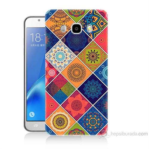 Teknomeg Samsung Galaxy J7 2016 Kapak Kılıf Pitikare Baskılı Silikon