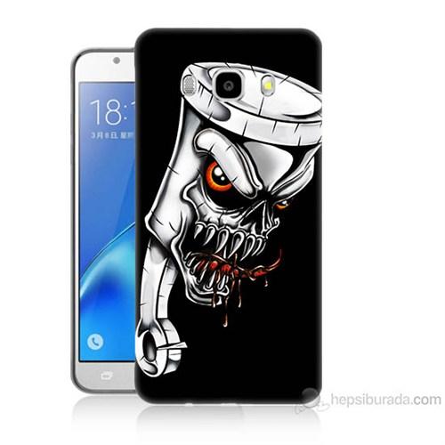 Teknomeg Samsung Galaxy J7 2016 Kapak Kılıf Piston Baskılı Silikon