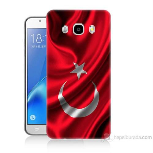 Teknomeg Samsung Galaxy J7 2016 Kapak Kılıf Türkiye Bayrağı Baskılı Silikon