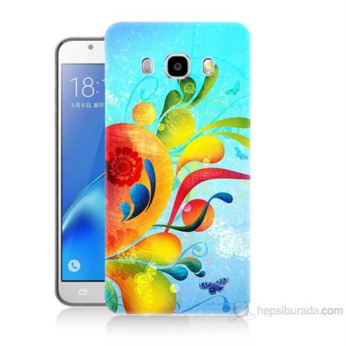 Teknomeg Samsung Galaxy J7 2016 Kapak Kılıf Renkli Desen Baskılı Silikon