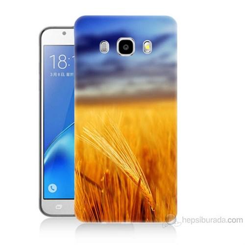 Teknomeg Samsung Galaxy J7 2016 Kapak Kılıf Sarı Mavi Baskılı Silikon