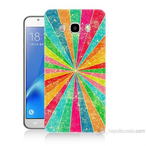 Teknomeg Samsung Galaxy J7 2016 Kapak Kılıf Renk Efekti Baskılı Silikon