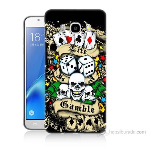 Teknomeg Samsung Galaxy J7 2016 Kapak Kılıf Kumar Baskılı Silikon