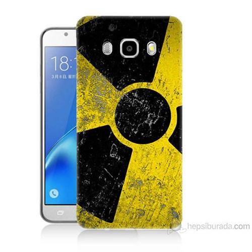 Teknomeg Samsung Galaxy J7 2016 Kapak Kılıf Radyasyon Baskılı Silikon