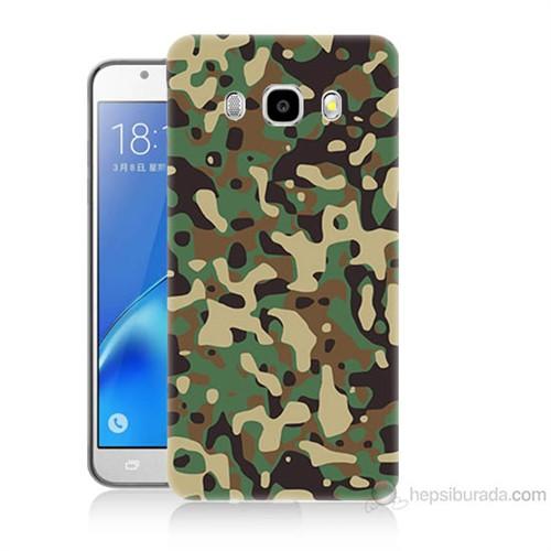 Teknomeg Samsung Galaxy J7 2016 Kapak Kılıf Askeri Kamuflaj Baskılı Silikon