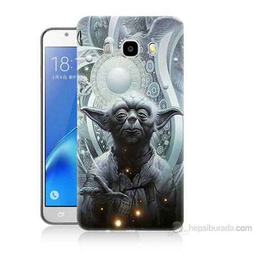 Teknomeg Samsung Galaxy J7 2016 Kapak Kılıf Güç Uyanıyor Yoda Baskılı Silikon