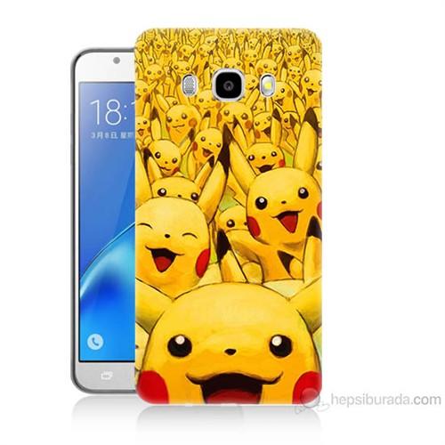 Teknomeg Samsung Galaxy J7 2016 Kapak Kılıf Pikaçu Baskılı Silikon