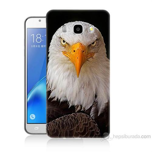 Teknomeg Samsung Galaxy J7 2016 Kapak Kılıf Kartal Baskılı Silikon