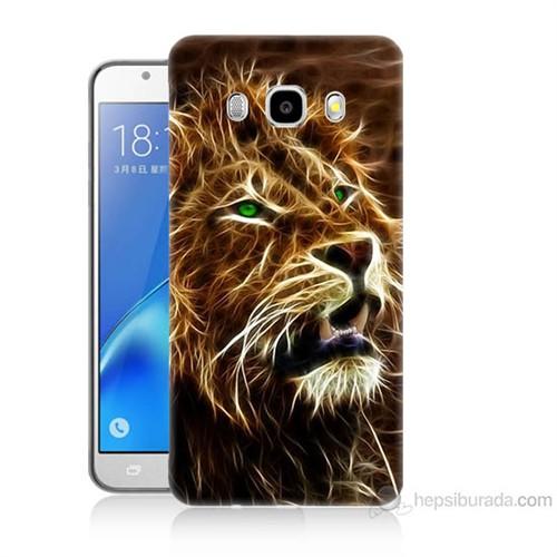 Teknomeg Samsung Galaxy J7 2016 Kapak Kılıf Aslan Baskılı Silikon