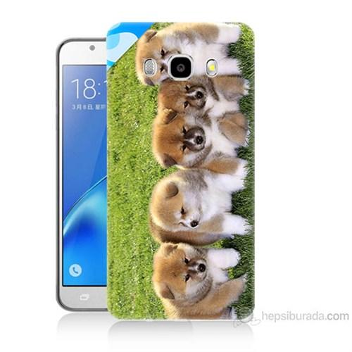 Teknomeg Samsung Galaxy J7 2016 Kapak Kılıf Sevimli Köpek Baskılı Silikon